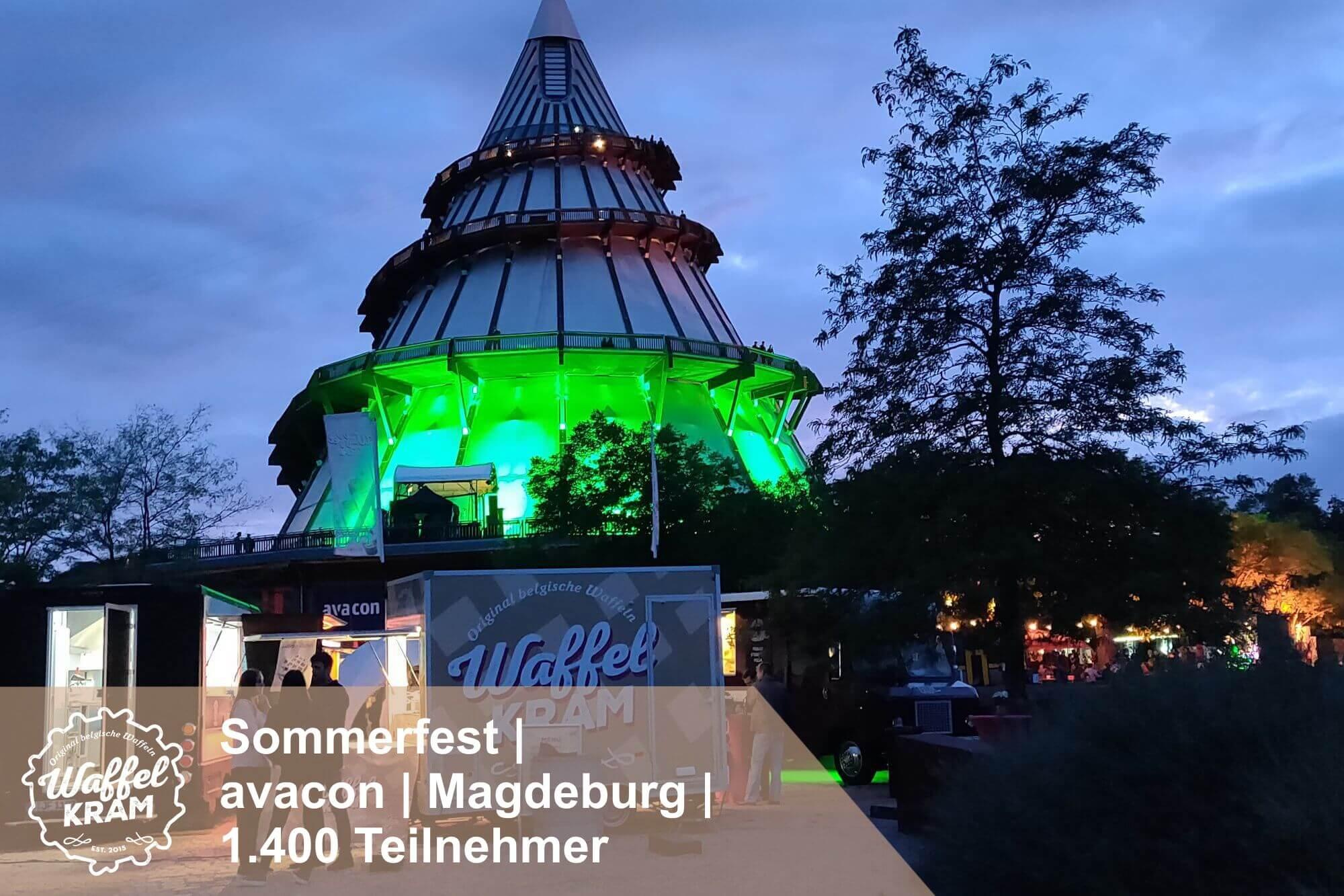 Catering Sommerfest Jahrtausendturm Magdeburg avacon