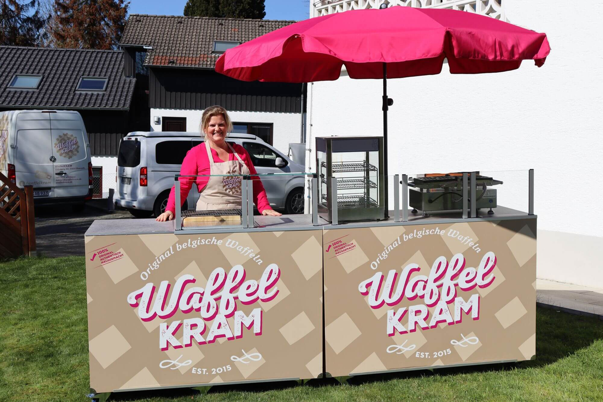Waffelkram Mobile Theke Messecatering Live Cooking Station 2