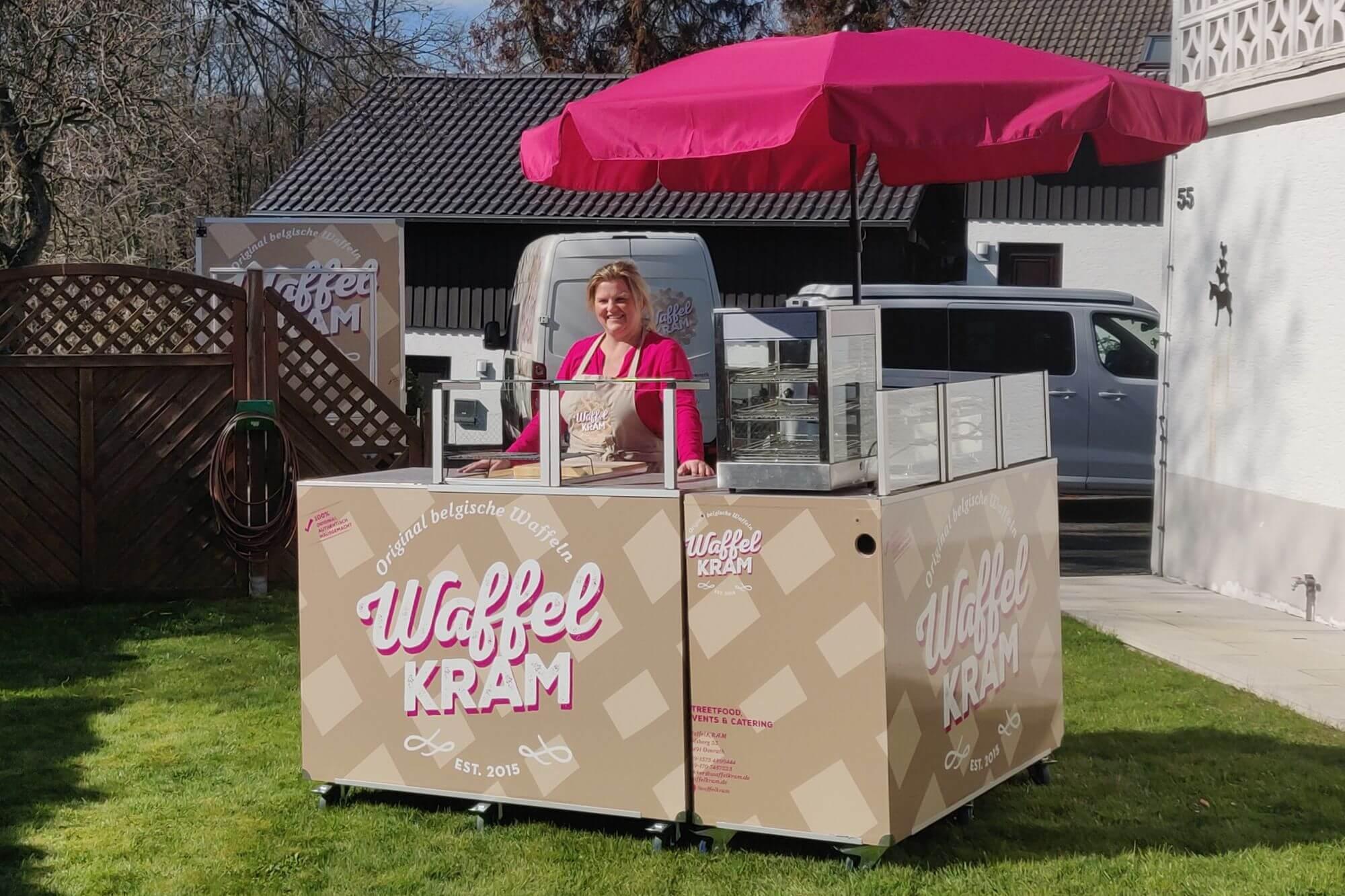 Waffelkram Mobile Theke Live Cooking Station 4